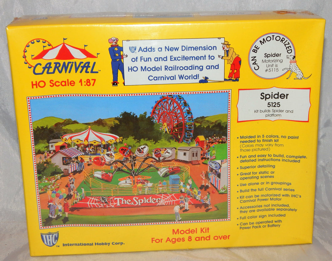 IHC HO 5125 The Spider Carnival Ride +Platform Kit C10 1/87 Sealed can be mtrizd