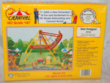 Load image into Gallery viewer, IHC 5118 Sea Dragon Carnival Ride +Platform & Ticket Ofc Kit C10 1/87 Sealed HO Scale
