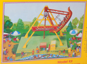 IHC 5118 Sea Dragon Carnival Ride +Platform & Ticket Ofc Kit C10 1/87 Sealed HO Scale