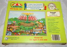 Load image into Gallery viewer, IHC 5113 SWINGER Carnival Ride + Platform w/ ticket ofc Kit 1/87 Sealed HO Scale