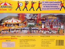Load image into Gallery viewer, IHC 5121 3 Concession Booths Shooting Gallery, Dart,Birthday Seald 1/87 Carnival