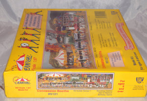 IHC 5121 3 Concession Booths Shooting Gallery, Dart,Birthday Seald 1/87 Carnival