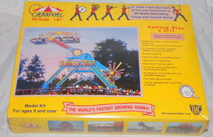 IHC 5117 Falling Star Carnival Ride +Platform w/ ticket ofc Kit 1/87 Sealed HO