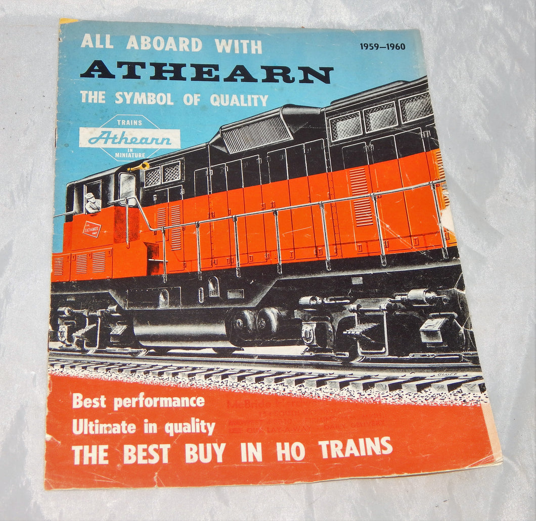 Vintage Athearn 1959-1960 Ho Catalog All Aboard with Athearn 8 pgs sets locos ++