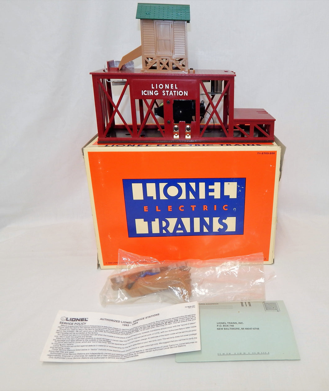 Lionel Trains 6-12847 Operating Icing Station #352 Accessory C7-8 O/027 Boxed