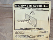 Load image into Gallery viewer, Lionel 230 Lighted Billboard BLINKER Accessory w/ instructions Metal 410 O/027