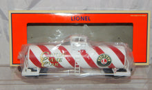 Load image into Gallery viewer, Lionel 6-17946 Candy Cane Unibody SingleDome Tank Car Lionelville Christmas Standard O