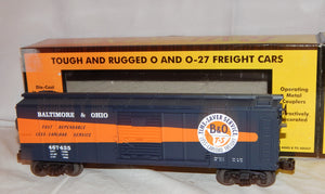 MTH Train 30-74486 Baltimore & Ohio Box Car B&O Time-Saver Service 467435 O gaug