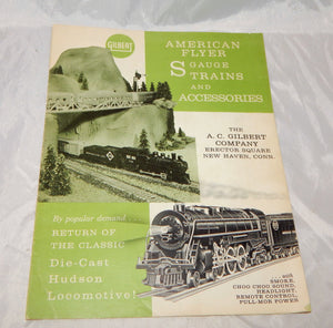 American Flyer Trains 1962 Advance Dealer Catalog D2282 S gauge w/21130 Hudson