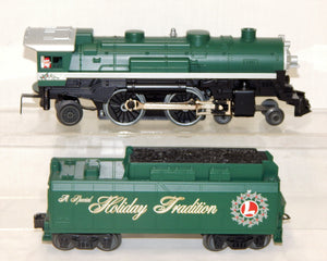 Lionel Trains Holiday Traditions 4-4-2 Steam Engine & Whistle tender Christmas