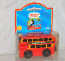 Load image into Gallery viewer, Thomas Tank Engine Wooden Bulgy bus NEW IN PACKAGE Retired LC 99181 double decker 2001