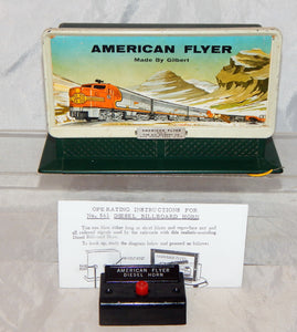 ORIGINAL American Flyer #561 Diesel Horn Billboard Sound w/button 1950s Santa Fe
