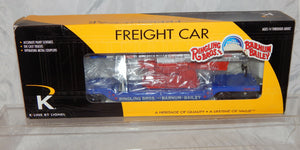 K-Line 6-22243 Circus Train Ringling Brothers Human Cannonball Flatcar O Blue