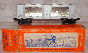 BOXED Lionel Trains 6445 Fort Knox Mint Car Clean Bullion Transport Silver Postw