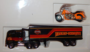 MATCHBOX 76240 HARLEY DAVIDSON Motorcycle & Truck set Road Riders Diecast 1992