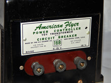 Load image into Gallery viewer, American Flyer 16B 175 watt transformer Deadman Handle AC Serviced Clean 1954-56