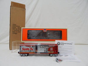 Lionel 6-58535 LOTS 2012 Santa Fe Warbonnet Transparent Boxcar C9 Limited Run O