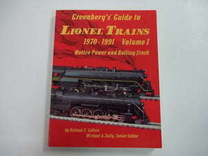 Greenberg's Guide Lionel Trains 1970-1991 Vol1 Locomotives Rolling Stock 10-7535