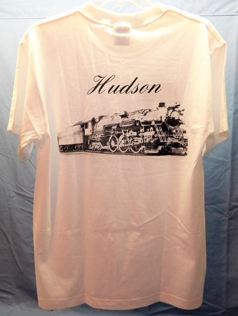New York Central System Hudson T-Shirt Steam Engine Logo Front Train back 2sided