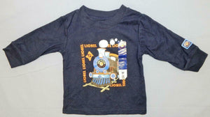 Lionel Trains Navy Blue Toddler Long Sleeve T-shirt Steam Engine Infant Steam