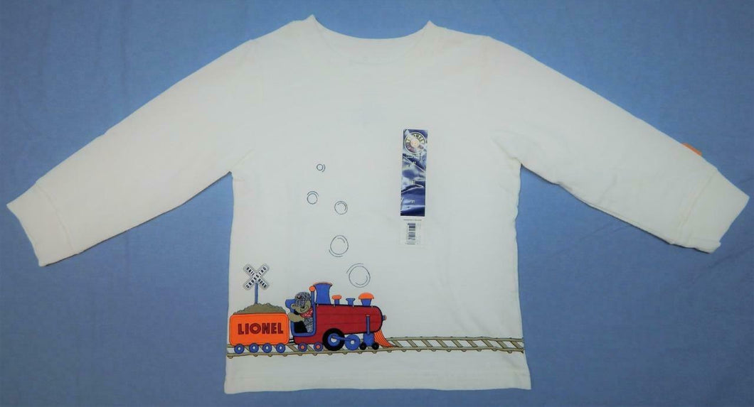 Lionel Trains White Long Sleeve T-shirt Steam Engine Infant Toddler 2Sides TBear