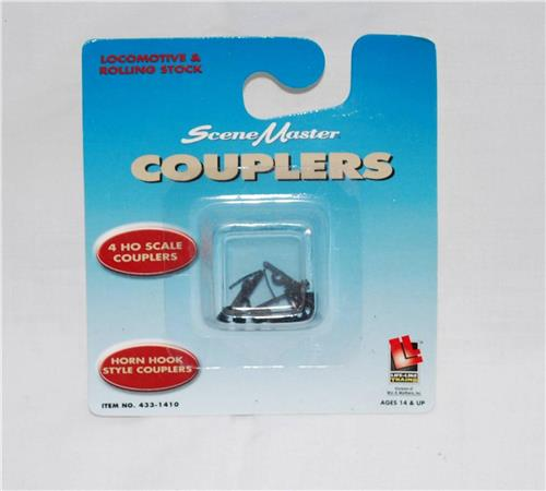 Lifelike HO scale 1410 COUPLERS Pack of FOUR (4) Horn Hook style1/87 Scenemaster