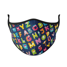 Load image into Gallery viewer, Alphabets Reusable Face Masks - Protect Styles