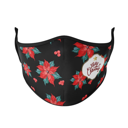 Christmas Poinsettia Reusable Face Masks - Protect Styles