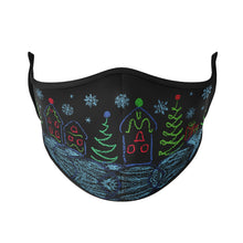 Load image into Gallery viewer, Winter Drawings Reusable Face Masks - Protect Styles