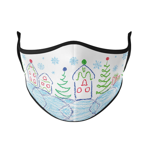 Winter Drawings Reusable Face Masks - Protect Styles
