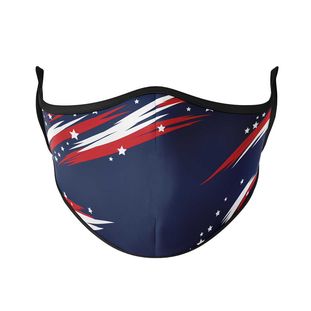 Red, White & Blue Reusable Face Masks - Protect Styles US