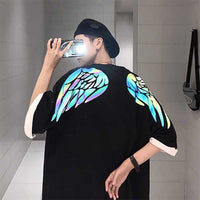 Reflective Wing Print T-Shirt