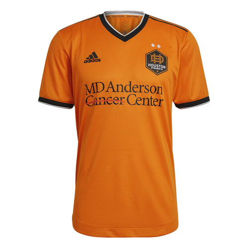 Custom Houston Dynamo Men's Authentic Primary Jersey Orange New Logo