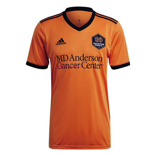 Custom Houston Dynamo Men's Replica Primary Jersey Orange New Logo