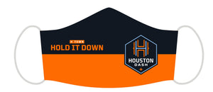 HOUSTON DASH RUFFNECK WEAR INC SPLIT LOGO FACE COVER