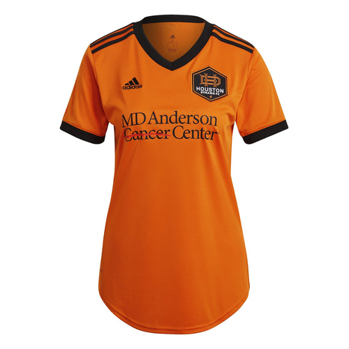 Custom Houston Dynamo Women's Replica Primary Jersey Orange New Logo