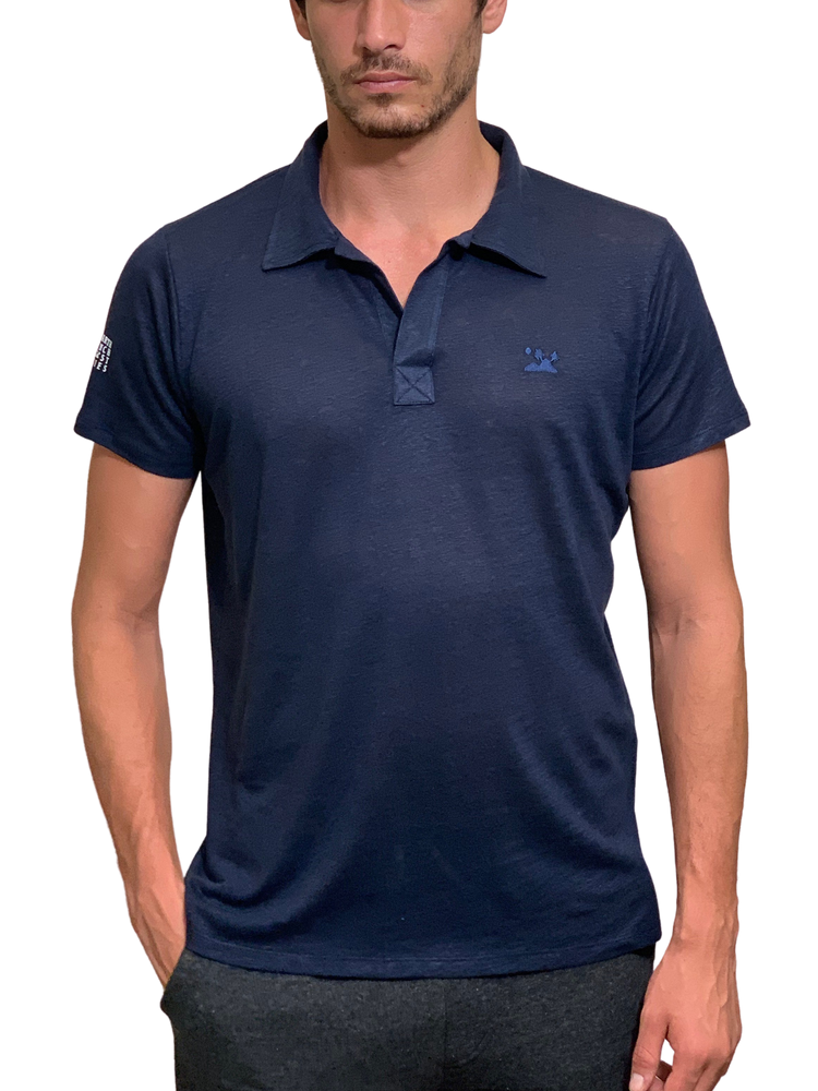 Load image into Gallery viewer, Relaxed Linen Polo