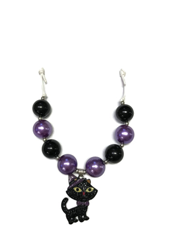 Black Cat Chunky Bubblegum Necklace