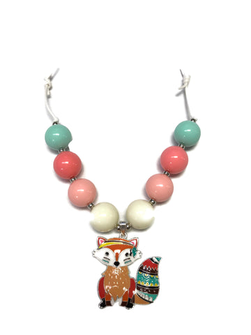 Fox Chunky Bubblegum Necklace