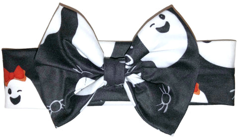 Ghost Milk Silk Head Band Bow