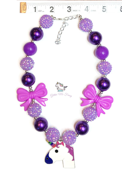 Unicorn Chunky Bubblegum Necklace