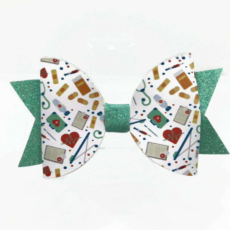 Healthcare Worker Hair Clip Bow