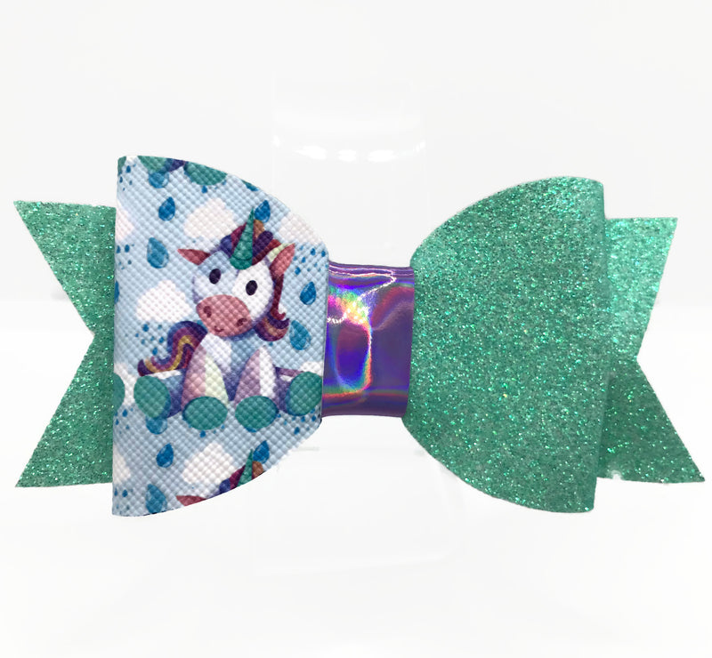 Toy Unicorn Hair Clip Bow