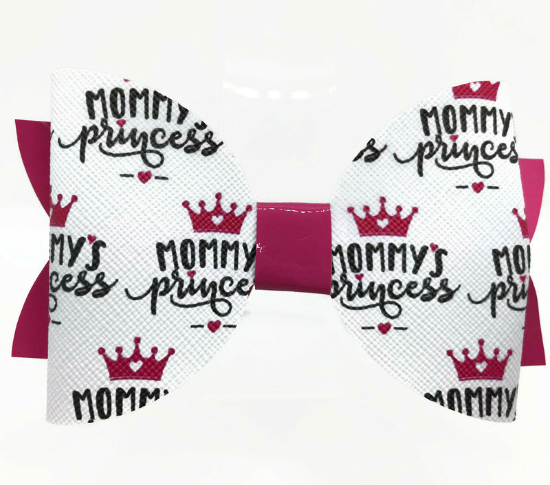 Mommy's Princess Hair Clip Bow