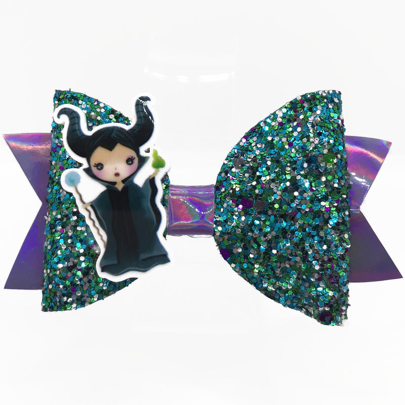 Evil Queen Hair Clip Bow