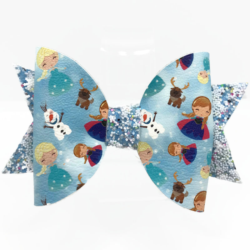 Ice Princess Hair Clip Bow