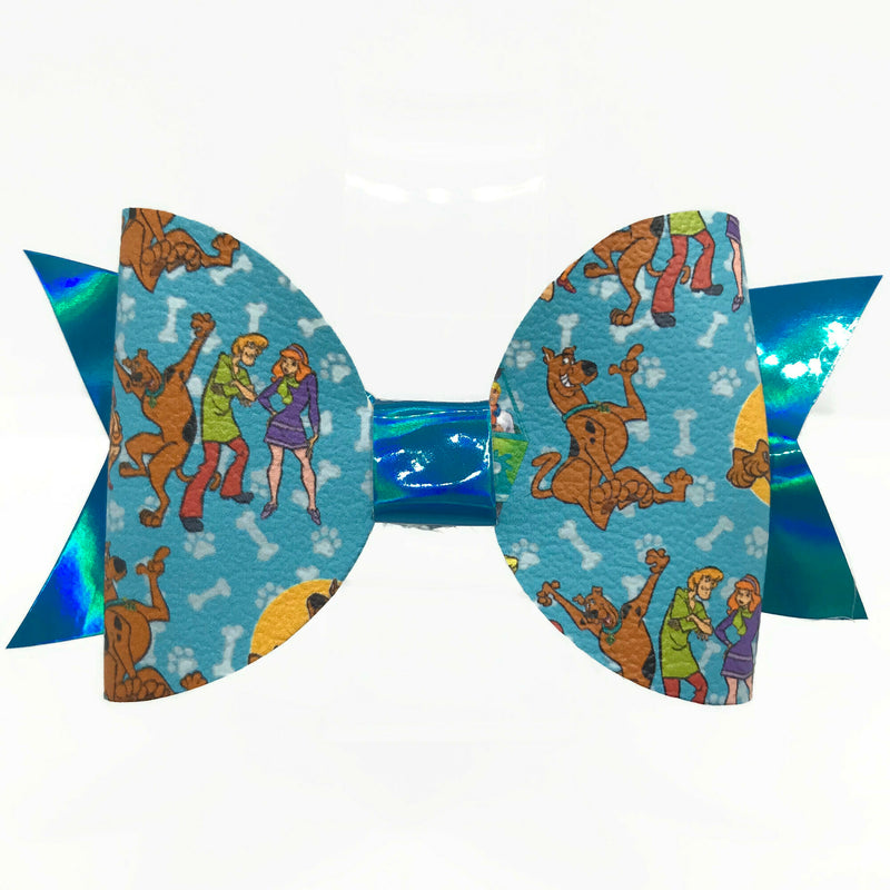 Blue Mystery Dog Hair Clip Bow