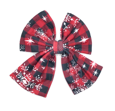 Buffalo Check Hair Clip Bow