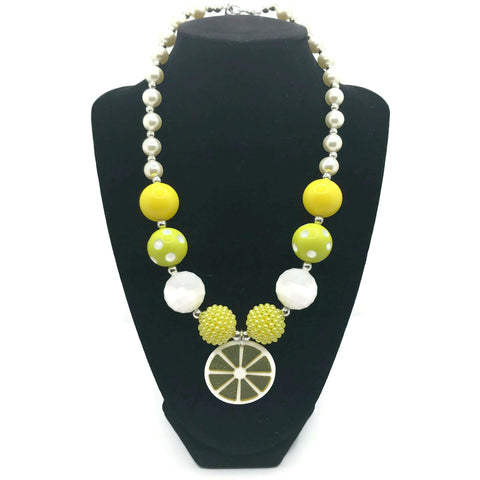 Lemon Slice Chunky Bubblegum Necklace
