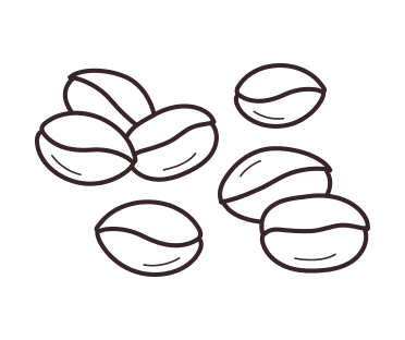 Coffee bean illustration